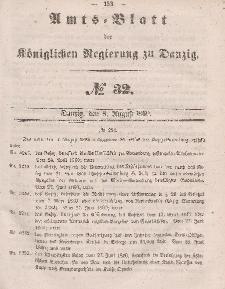 Amts-Blatt der Königlichen Regierung zu Danzig, 8. August 1860, Nr. 32