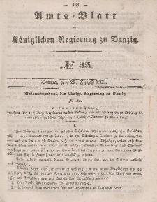 Amts-Blatt der Königlichen Regierung zu Danzig, 29. August 1860, Nr. 35