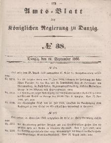 Amts-Blatt der Königlichen Regierung zu Danzig, 19. September 1860, Nr. 38