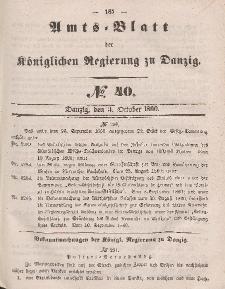Amts-Blatt der Königlichen Regierung zu Danzig, 3. Oktober 1860, Nr. 40