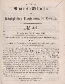 Amts-Blatt der Königlichen Regierung zu Danzig, 10. Oktober 1860, Nr. 41