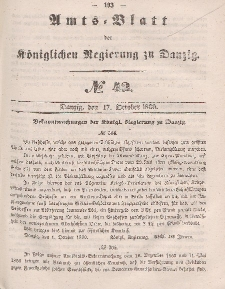 Amts-Blatt der Königlichen Regierung zu Danzig, 17. Oktober 1860, Nr. 42