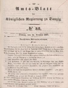 Amts-Blatt der Königlichen Regierung zu Danzig, 24. Oktober 1860, Nr. 43