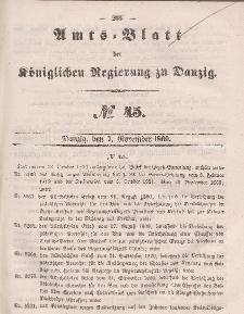 Amts-Blatt der Königlichen Regierung zu Danzig, 7. November 1860, Nr. 45