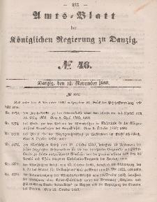 Amts-Blatt der Königlichen Regierung zu Danzig, 14. November 1860, Nr. 46