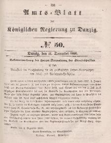 Amts-Blatt der Königlichen Regierung zu Danzig, 12. Dezember 1860, Nr. 50