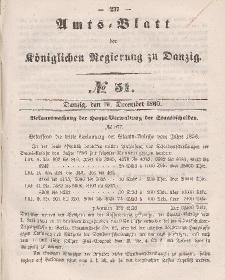 Amts-Blatt der Königlichen Regierung zu Danzig, 19. Dezember 1860, Nr. 51