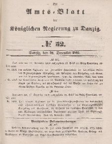Amts-Blatt der Königlichen Regierung zu Danzig, 26. Dezember 1860, Nr. 52