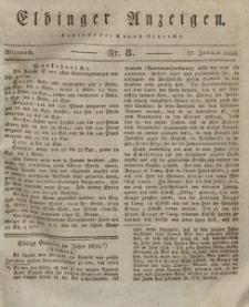 Elbinger Anzeigen, Nr. 8. Mittwoch, 27. Januar 1830