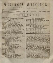 Elbinger Anzeigen, Nr. 9. Sonnabend, 30. Januar 1830