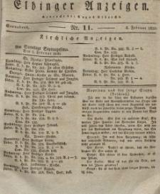 Elbinger Anzeigen, Nr. 11. Sonnabend, 6. Februar 1830