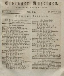 Elbinger Anzeigen, Nr. 17. Sonnabend, 27. Februar 1830