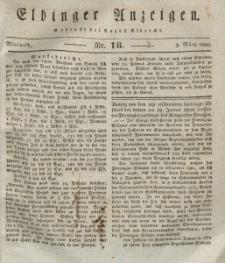 Elbinger Anzeigen, Nr. 18. Mittwoch, 3. März 1830