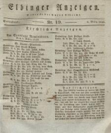 Elbinger Anzeigen, Nr. 19. Sonnabend, 6. März 1830