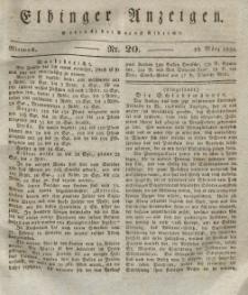 Elbinger Anzeigen, Nr. 20. Mittwoch, 10. März 1830