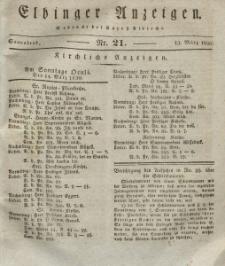 Elbinger Anzeigen, Nr. 21. Sonnabend, 13. März 1830