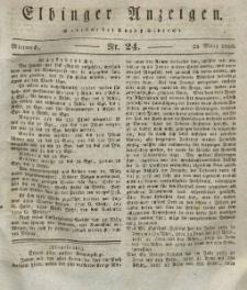 Elbinger Anzeigen, Nr. 24. Mittwoch, 24. März 1830