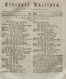 Elbinger Anzeigen, Nr. 25. Sonnabend, 27. März 1830