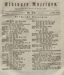 Elbinger Anzeigen, Nr. 36. Dienstag, 4. Mai 1830