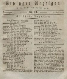 Elbinger Anzeigen, Nr. 41. Sonnabend, 22. Mai 1830