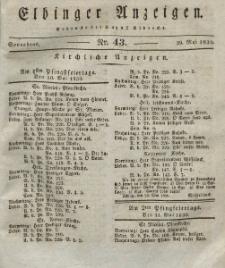 Elbinger Anzeigen, Nr. 43. Sonnabend, 29. Mai 1830