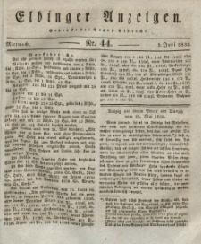 Elbinger Anzeigen, Nr. 44. Mittwoch, 2. Juni 1830