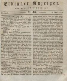 Elbinger Anzeigen, Nr. 46. Mittwoch, 9. Juni 1830
