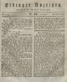 Elbinger Anzeigen, Nr. 48. Mittwoch, 16. Juni 1830