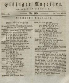 Elbinger Anzeigen, Nr. 50. Mittwoch, 23. Juni 1830
