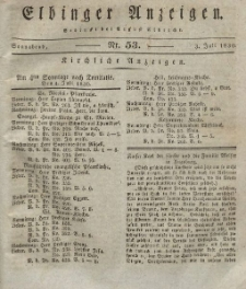 Elbinger Anzeigen, Nr. 53. Sonnabend, 3. Juli 1830