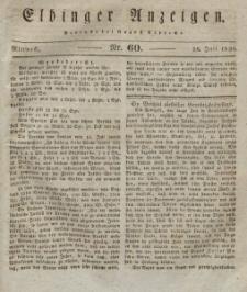 Elbinger Anzeigen, Nr. 60. Mittwoch, 28. Juli 1830