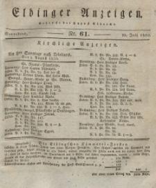 Elbinger Anzeigen, Nr. 61. Sonnabend, 31. Juli 1830