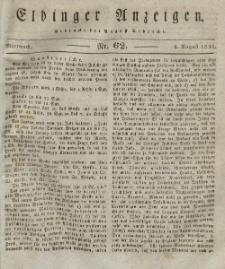 Elbinger Anzeigen, Nr. 62. Mittwoch, 4. August 1830