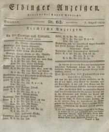 Elbinger Anzeigen, Nr. 63. Sonnabend, 7. August 1830