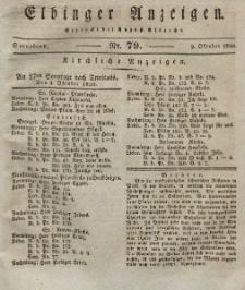 Elbinger Anzeigen, Nr. 79. Sonnabend, 2. Oktober 1830