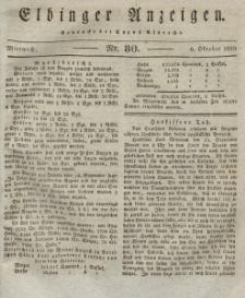 Elbinger Anzeigen, Nr. 80. Mittwoch, 6. Oktober 1830