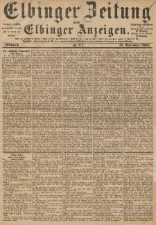 Elbinger Zeitung und Elbinger Anzeigen, Nr. 271 Mittwoch 18. November 1885