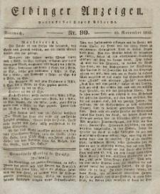 Elbinger Anzeigen, Nr. 90. Mittwoch, 10. November 1830