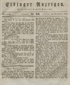 Elbinger Anzeigen, Nr. 94. Mittwoch, 24. November 1830