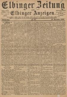 Elbinger Zeitung und Elbinger Anzeigen, Nr. 272 Donnerstag 19. November 1885
