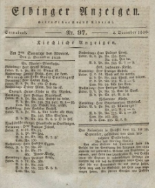Elbinger Anzeigen, Nr. 97. Sonnabend, 4. Dezember 1830