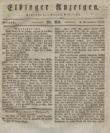 Elbinger Anzeigen, Nr. 98. Mittwoch, 8. Dezember 1830