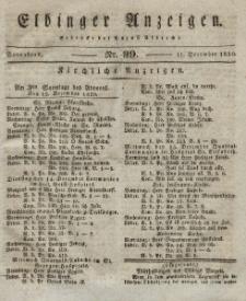 Elbinger Anzeigen, Nr. 99. Sonnabend, 11. Dezember 1830