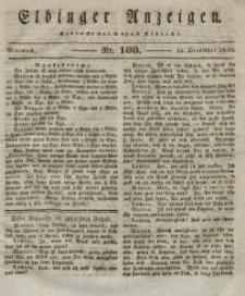 Elbinger Anzeigen, Nr. 100. Mittwoch, 15. Dezember 1830