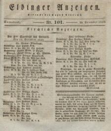 Elbinger Anzeigen, Nr. 101. Sonnabend, 18. Dezember 1830