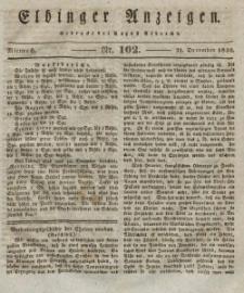 Elbinger Anzeigen, Nr. 102. Mittwoch, 22. Dezember 1830