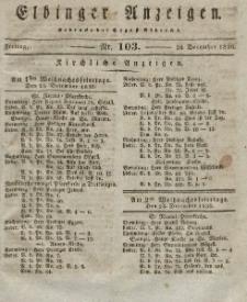 Elbinger Anzeigen, Nr. 103. Freitag, 24. Dezember 1830