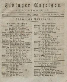Elbinger Anzeigen, Nr. 105. Freitag, 31. Dezember 1830