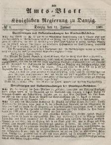 Amts-Blatt der Königlichen Regierung zu Danzig, 11. Januar 1865, Nr. 2