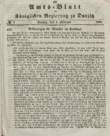 Amts-Blatt der Königlichen Regierung zu Danzig, 1. Februar 1865, Nr. 5